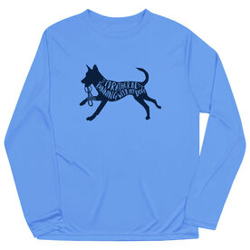 Long Sleeve Performance Tee - I'd Rather Be Running with My Dog