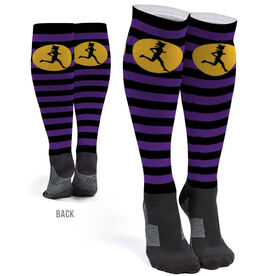 Running Printed Knee-High Socks - Witch Running