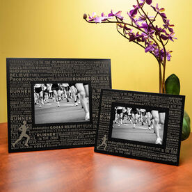 Running Engraved Picture Frame - Inspiration Words Male