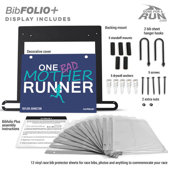 BibFOLIO+™ Race Bib and Medal Display One Bad Mother Runner