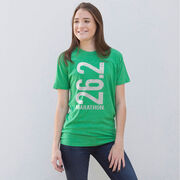 Running Short Sleeve T-Shirt - 26.2 Marathon Vertical