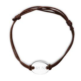 Sterling Silver Cord Bracelet Run (Text)