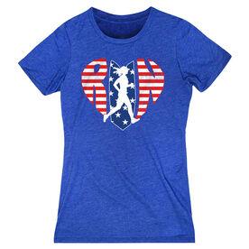 Women's Everyday Runners Tee Patriotic Heart