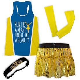 Run Like a Beast Finish Like a Beauty (Bold) Running Outfit