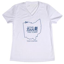 Women's Running Short Sleeve Tech Tee - Moms Run This Town Ohio Runner