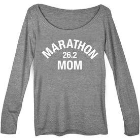Women's Runner Scoop Neck Long Sleeve Tee - Marathon 26.2 Mom