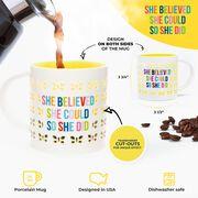 Soleil Home™ Porcelain Mug - She Believed She Could