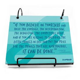 BibFOLIO® Race Bib Album - If You Believe In Yourself