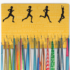 Running Hooked on Medals Large Medal Hanger Inspiration Female