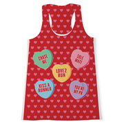 Women's Performance Tank Top - Candy Hearts