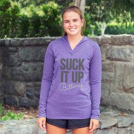 Women's Running Lightweight Performance Hoodie Suck It Up Buttercup
