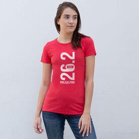 Women's Everyday Runners Tee - Philadelphia 26.2 Vertical