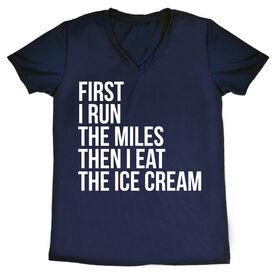 Women's Running Short Sleeve Tech Tee - Then I Eat The Ice Cream