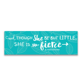 """Running 12.5"""" X 4"""" Removable Wall Tile - She Is Fierce"""