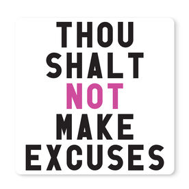 "Running 12"" X 12"" Removable Wall Tile - Thou Shalt Not Make Excuses"