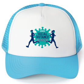 Running Trucker Hat - Social Distance Runner 2020