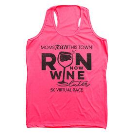 Women's Performance Tank Top - Run 5K Wine Later MRTT Edition