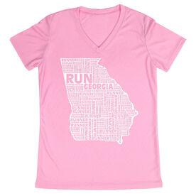 Women's Running Short Sleeve Tech Tee Georgia State Runner