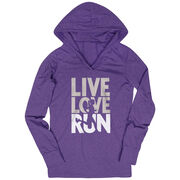 Women's Running Lightweight Performance Hoodie - Live Love Run Silhouette