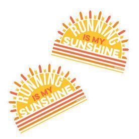 Running Stickers - Running is My Sunshine (Set of 2)