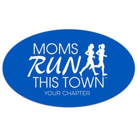 Running Oval Car Magnet - Moms Run This Town Logo (Custom Chapter)