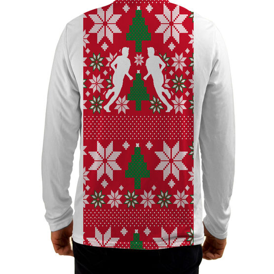 Men's Running Customized Long Sleeve Tech Tee Ugly Sweater Vest