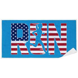 Running Premium Beach Towel - Run Girl USA