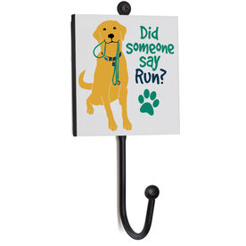 Running Medal Hook - Did Someone Say Run? (Yellow)