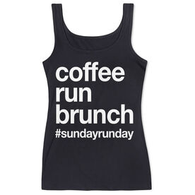 Women's Athletic Tank Top - Coffee Run Brunch
