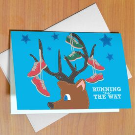 Running All The Way Greeting Card