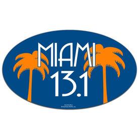 Miami 13.1 Oval Car Magnet