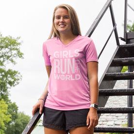 Women's Running Short Sleeve Tech Tee - Girls Run The World