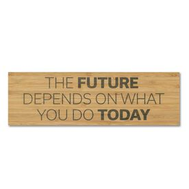 """Running 12.5"""" X 4"""" Printed Bamboo Removable Wall Tile - The Future Depends On What You Do Today"""