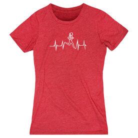 Womens Everyday Runners Tee Heart Beat Female Runner