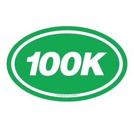 100k Oval Running Vinyl Decal