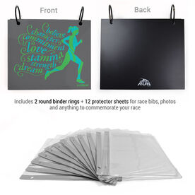 BibFOLIO® Race Bib Album - Believe Running Girl