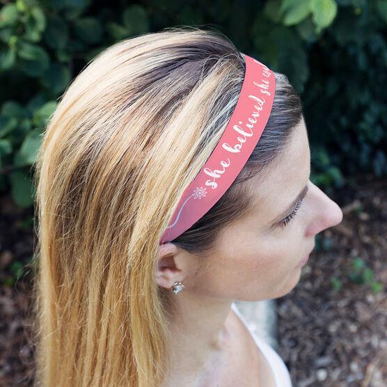 Running Julibands No-Slip Headbands - She Believed She Could So She Did