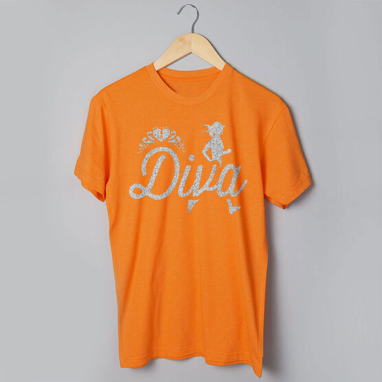 Running Short Sleeve T-Shirt - Running Diva Glitter