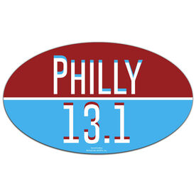 Philly 13.1 Oval Car Magnet