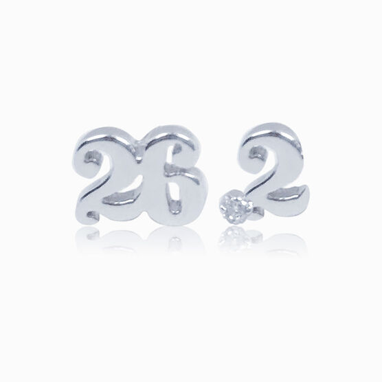 Livia Collection Sterling Silver 26.2 Stud Earrings