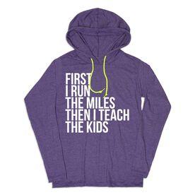 Women's Running Lightweight Hoodie - Then I Teach The Kids