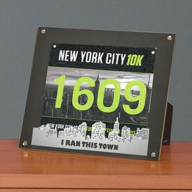 BibDISPLAY - Runners Race Bib Frame - I Ran This Town