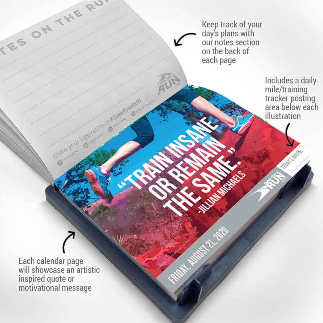 Inspirational Runner's 2020 Daily Desk Calendar