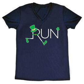 Women's Running Short Sleeve Tech Tee - Let's Run Lucky