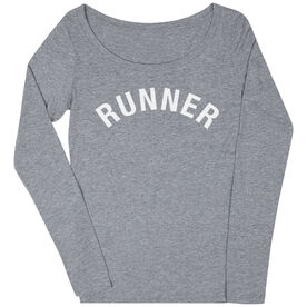Women's Runner Scoop Neck Long Sleeve Tee - Runner Arc