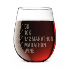 Running Stemless Wine Glass Runners Checklist