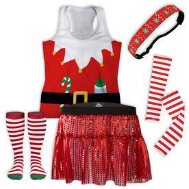 Mrs. Claus Runner Running Outfit