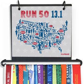 BibFOLIO Plus Race Bib and Medal Display Run 50 13.1