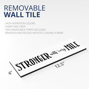 """Running 12.5"""" X 4"""" Removable Wall Tile - Stronger With Every Mile"""