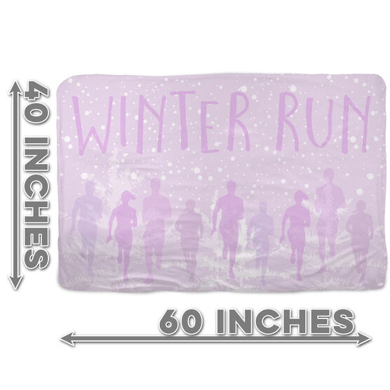 Running Sherpa Fleece Blanket Winter Run